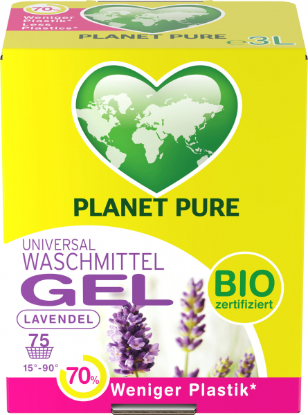 Detergent GEL bio de rufe - lavanda - 3 L Planet Pure [0]