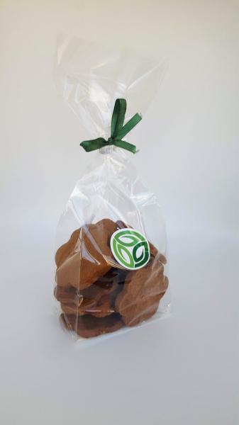 Biscuiți fără zahăr cu unt, cacao și nucă 150 gr [0]