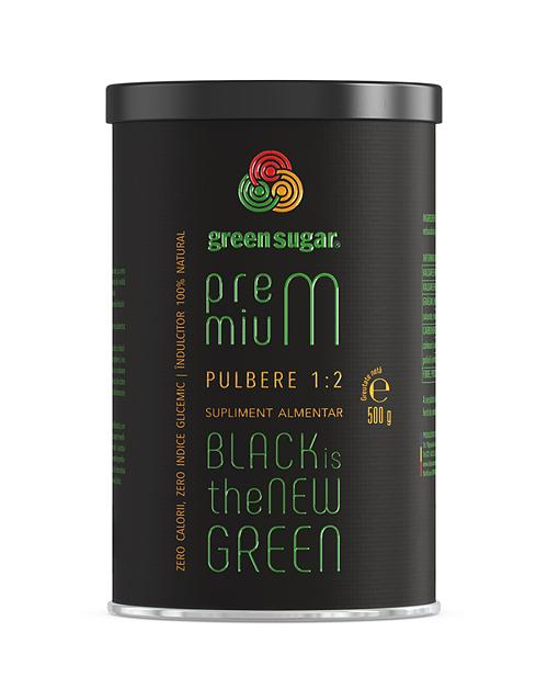 Green Sugar Premium 1:2 – putere dublă de îndulcire pulbere 500 gr [0]