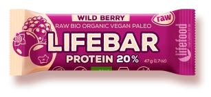 Lifebar baton proteic cu fructe de padure raw bio 47g [0]