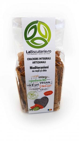 Crackers integrali mediteranieni, cu roșii și chia 125 gr [0]