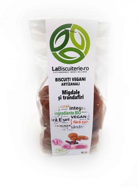 Biscuiți vegani fără zahăr cu migdale și trandafir 140 gr [0]