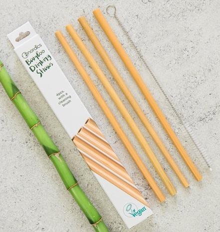 Pai din bambus pentru baut, set 4 bucati [0]