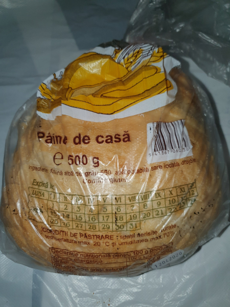 Pâine albă feliată de casă [0]