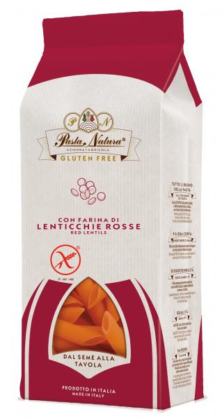 Penne din linte rosie bio fara gluten 250g Pasta Natura [0]