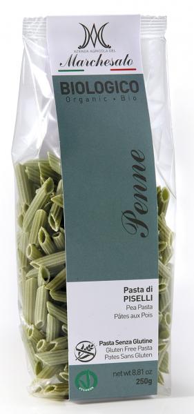 Penne din mazare verde fara gluten, bio, 250g Marchesato [0]