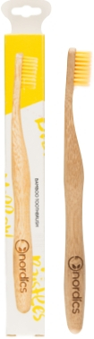 Periuta de dinti pt. adulti din bambus, GALBENA, Nordics [0]