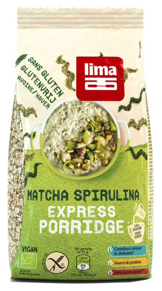 Porridge Express cu matcha si spirulina fara gluten bio 350g Lima [0]