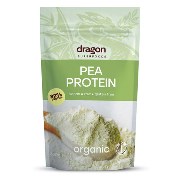 Pudra proteica din mazare eco 200g (Dragon Superfoods) [0]