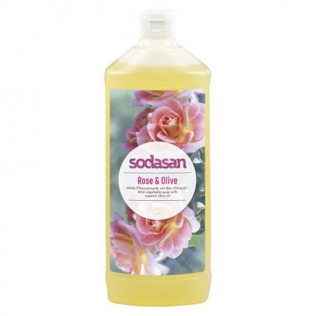 Sapun lichid gel de dus bio trandafir masline 1L SODASAN [0]