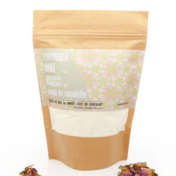 Ciocolată albă Trandafiri și Green Sugar 250 gr [1]