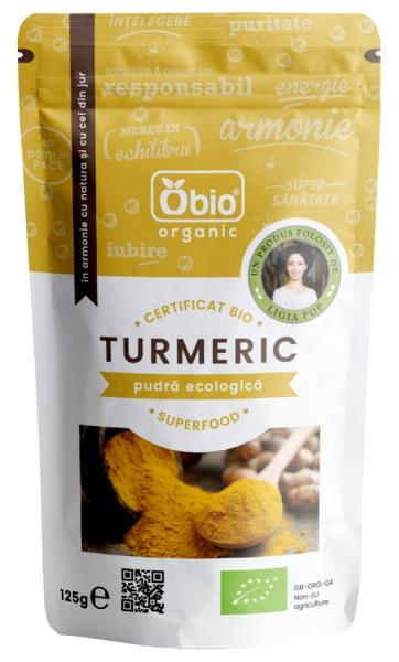 Turmeric pudra bio 125g Obio [0]