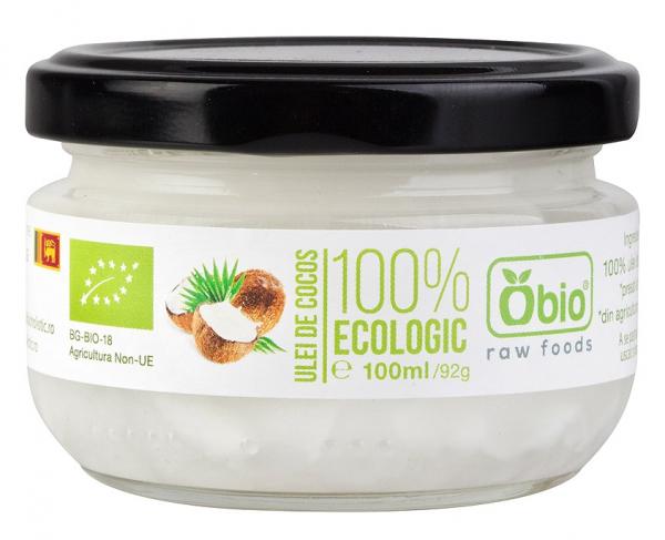 Ulei de cocos virgin raw bio 100ml Obio [0]