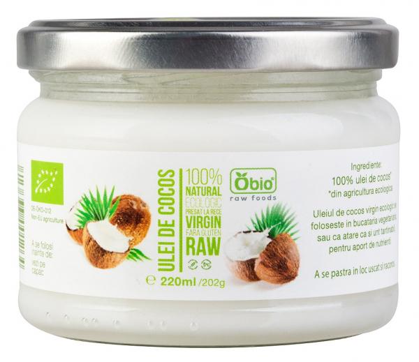 Ulei de cocos virgin raw bio 220ml OBIO [0]