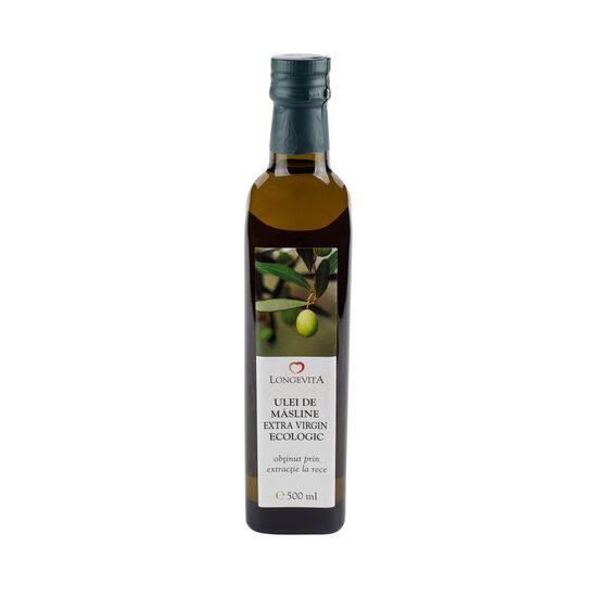 Ulei de măsline extra virgin bio presat la rece Longevita 500 ml [0]