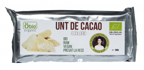 Unt de cacao raw eco 250g Obio [0]