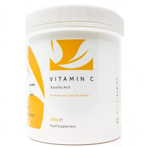 Vitamina C Acid Ascorbic pudra 250gr - Nutriscript [0]