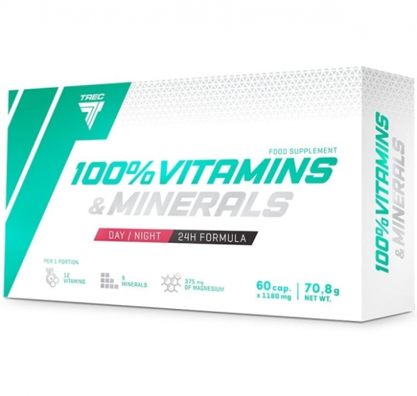 Vitamine si minerale 100 60 capsule Trec [0]