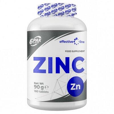 ZINC 15MG, 180 TABLETE, 6PAK NUTRITION [0]