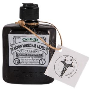 Carbgel săpun medicinal lichid cu cărbune (gel de duș + șampon natural) [0]