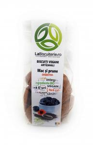 Biscuiți vegani fără zahăr cu mac și prune – digestivi 140 gr [0]