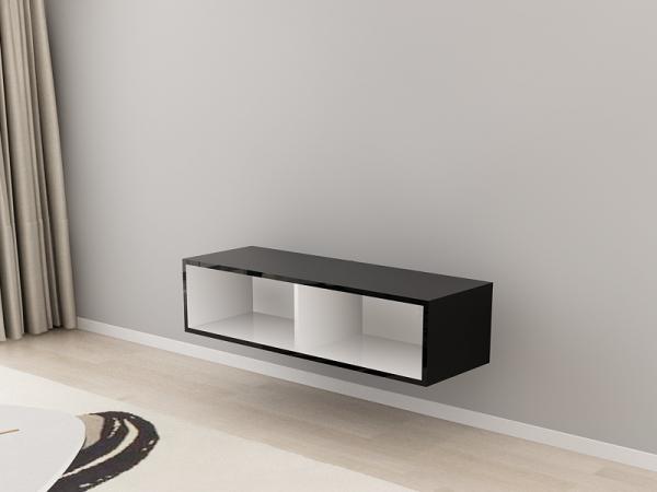 Comoda TV 120 Negru cu usa Alba 3