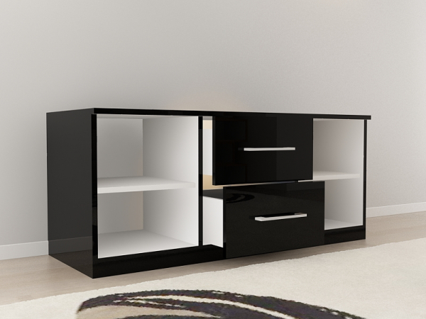 set_mobila_dormitor_Como2_mdf_lucios_negru_poza1_HulgoConcept_HulgoMobili.ro 6