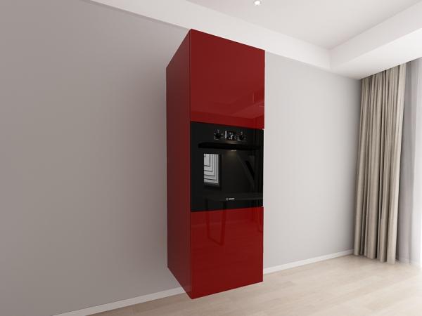 Corp vertical 187 Adancime 57 pentru cuptor incorporabil si 2 usi - Evora Bordo 0