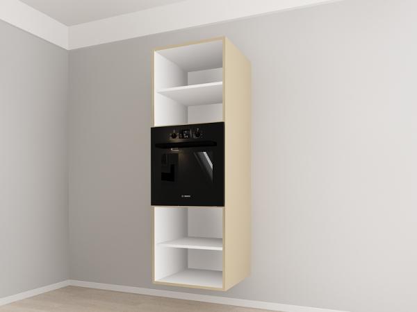Corp vertical 187 Adancime 57 pentru cuptor incorporabil si 2 usi - Evora Cappuccino 2