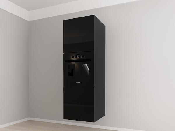 Corp vertical 187 Adancime 57 pentru cuptor incorporabil si 2 usi - Evora Negru 1