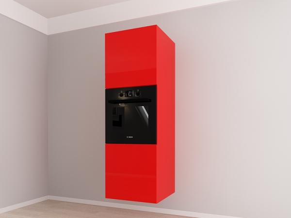 Corp vertical 187 Adancime 57 pentru cuptor incorporabil si 2 usi - Evora Rosu 1