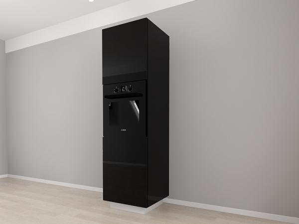 Corp Vertical 210 Adancime 57 pentru cuptor incorporabil si 2 usi - Blanca Negru 2