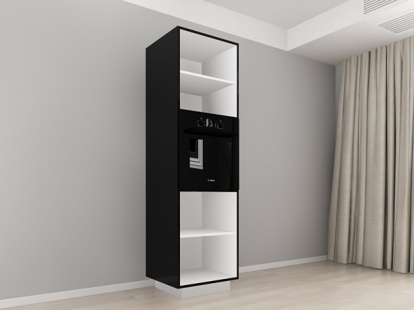 Corp Vertical 210 Adancime 57 pentru cuptor incorporabil si 2 usi - Blanca Negru 1