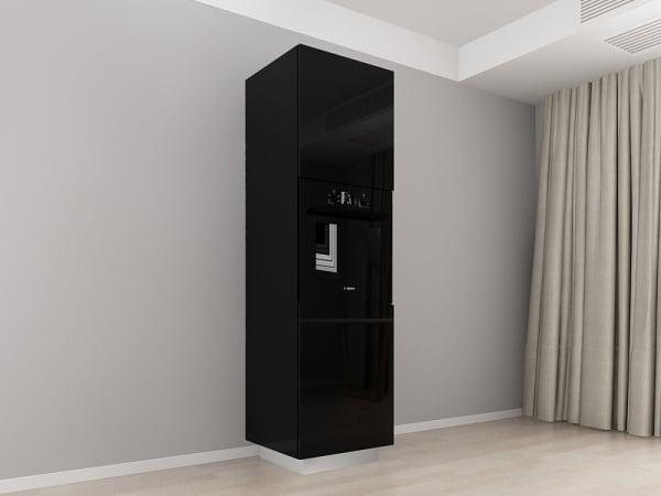 Corp Vertical 210 Adancime 57 pentru cuptor incorporabil si 2 usi - Blanca Negru 0