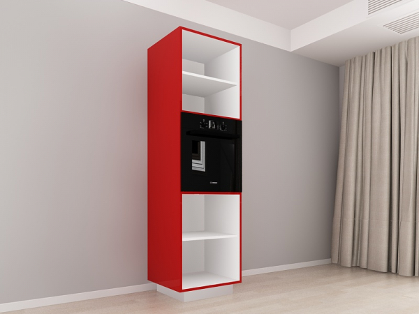 Corp Vertical 210 Adancime 57 pentru cuptor incorporabil si 2 usi - Blanca Rosu [1]