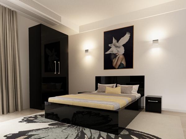 Set Dormitor COMO 1 Negru - PROMO+ [1]