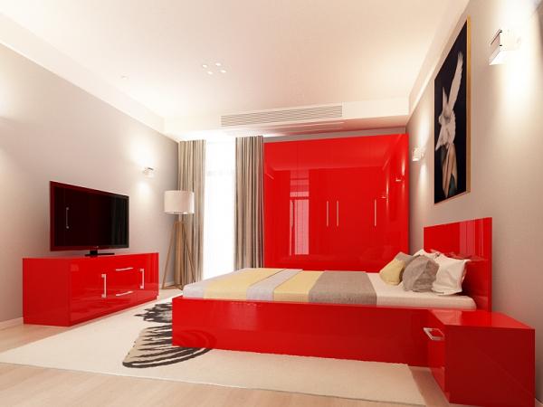 set_mobila_dormitor_Como2_mdf_lucios_rosu_poza1_HulgoConcept_HulgoMobili.ro 0