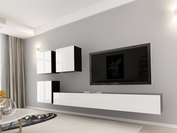set_mobila_living_Quadro17_mdf_negru_cu_usi_albe_poza1_HulgoConcept_HulgoMobili.ro 9