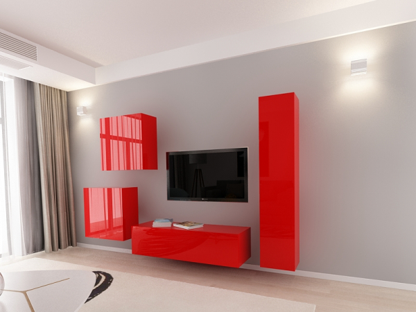 set_mobila_living_Quadro4_mdf_rosu_poza1_HulgoConcept_HulgoMobili.ro 1