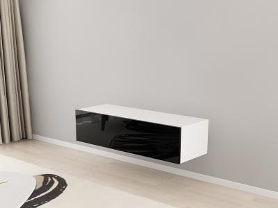 Comoda TV 120 Alb cu usa Neagra [2]