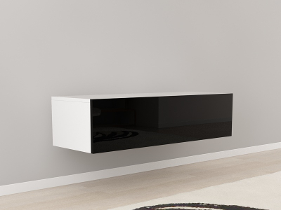 Comoda TV 120 Alb cu usa Neagra [0]