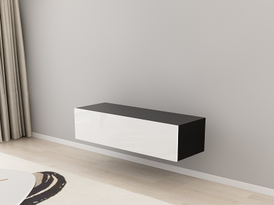 Comoda TV 120 Negru cu usa Alba2