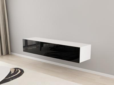 Comoda TV 160 Alb cu usi Negre2