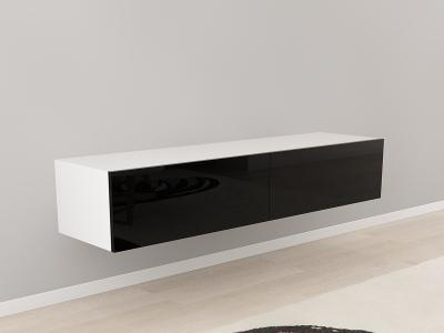 Comoda TV 160 Alb cu usi Negre0
