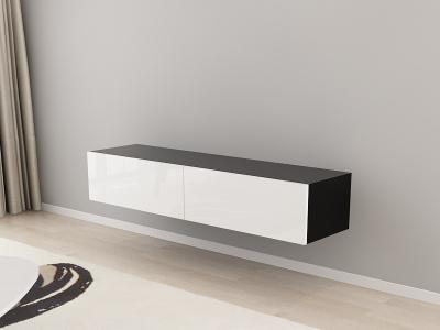 Comoda TV 160 Negru cu usi Albe2
