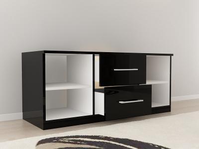 Set Mobila Dormitor COMO 3 MDF Negru8