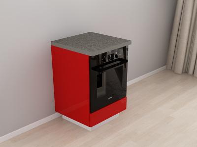 Corp Inferior 60 Adancime 57 pentru cuptor incorporabil – Blanca Rosu1