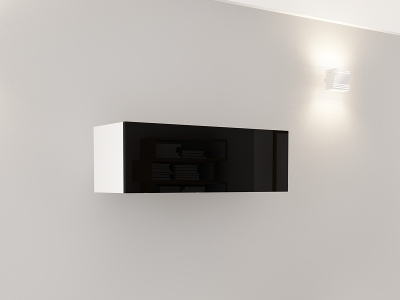Corp Orizontal 90 Alb cu usa Neagra [0]