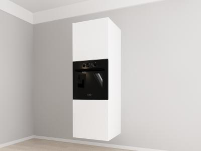 Corp vertical 187 Adancime 57 pentru cuptor incorporabil si 2 usi - Evora Alb1