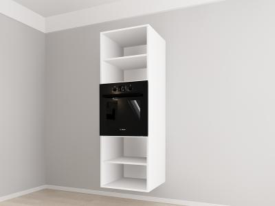 Corp vertical 187 Adancime 57 pentru cuptor incorporabil si 2 usi - Evora Alb2